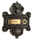 Rustic Doorbell with Frame for Name Tag Nr.452