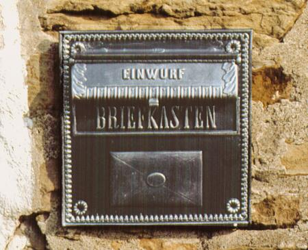 Briefeinwurfplatte Nr.1521