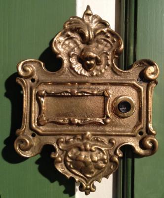 Klingelschild aus Messing Nr.458