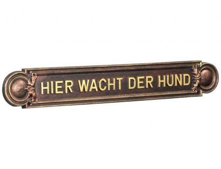 Cast Aluminium Sign for Embossed Inscriptions Nr.466