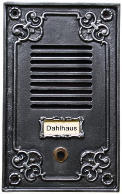 Klingelplatte mit Sprechschlitzen Nr.510