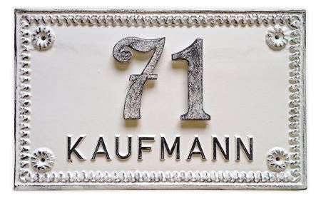 Wall Sign with House Number and Name Nr.590L