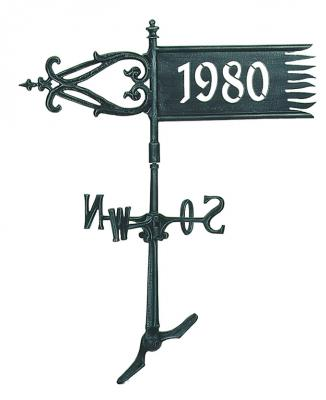 Weather-Vane with cut-out date Nr.591