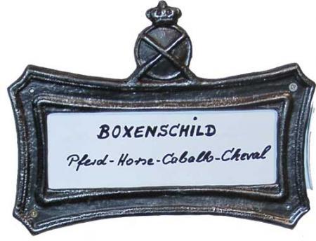 Boxenschild mit Wechselplatte Nr.953
