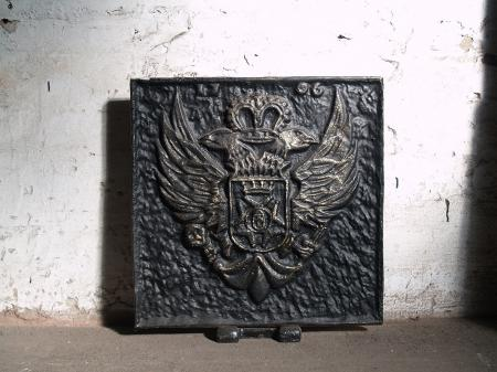 Antique Cast-Iron Fireback Nr.Kaminplatte4