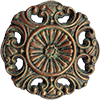 Color Sample 'Rusty (Old-Iron-Effect)' for Round Ornamented Doorbell Button