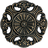 Color Sample 'Black, Bronze Patina' for Round Ornamented Doorbell Button