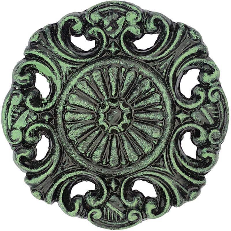 Color Sample Black, Green Patina